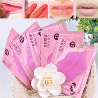 (5pcs)Lips Care Crystal Collagen Lip Mask Pads Moisture Essence Anti Ageing Wrinkle Patch Pad Gel Lip HB-0138 = 1706040452