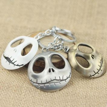 Horror Movie The Nightmare Before Christmas Pendant Keychain Big Eyes Skeleton Skull Keychain