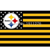 Pittsburgh Steelers NFL Premium Team Flag 3 x 5ft 100% polyester free shipping Qing Dao First Flag Manufacturer
