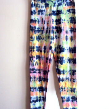 Tie Dye Leggings Batik Pants Hand Painted Women's Clothing Fashion Yoga Workout Fitness Beach Pants Comfortable and Soft Ready to Ship