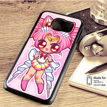 Sailor Chibi Mini Moon By Cheshirepanda Samsung Galaxy S4 Case, S5 Case, S6 Case, S6 Edge Case, S6 Edge Plus Case, S7 Case, S7 Edge Case, Note 3 Case, Note 4 Case, Note 5 Case, Note Edge Case