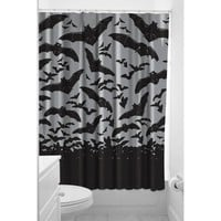 Sourpuss Spooksville Bats Shower Curtain | Rockabilly Homewares