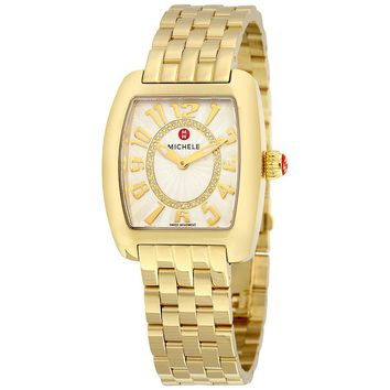 Michele Urban Mini Silver Diamond Dial Ladies Watch MWW02A000596