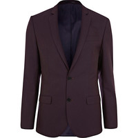 River Island MensBerry slim fit suit jacket