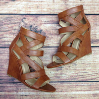 THE WHITLEY WEDGE IN TAN