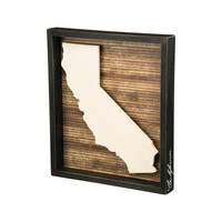 Geography Lesson: California Framed Wall Art
