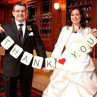 SCRABBLE Thank You Banner Wedding Sign by PurplePeonyCouture