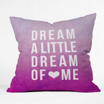 Leah Flores Dream Pink Throw Pillow