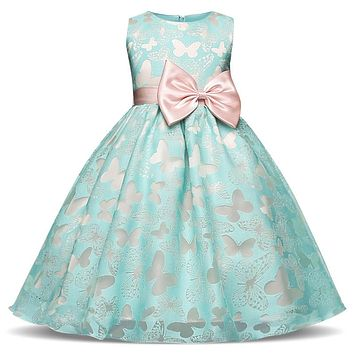 Fairy Fancy Butterfly Girl Dress Flower Wedding Dress