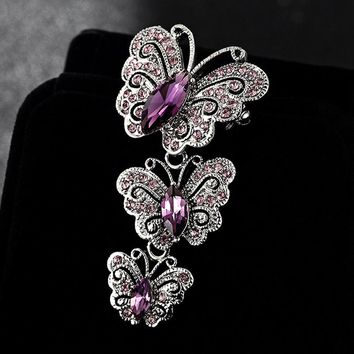 Big Brand Fashion Korean Jewelry Antique Silver Vintage Butterfl c0cc5637a5e4