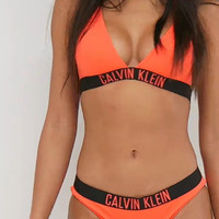 Calvin Klein Fashion Halter Beach Bikini Set Swimsuit Swimwear