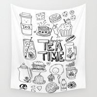 Forever Tea Time 1 Wall Tapestry by Shashira Handmaker