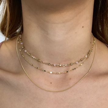 Honey Bunch Layered Choker Necklace