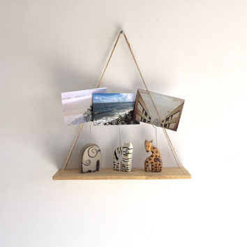 Handmade Hanging Pallet Shelf, Rustic Decor, Beach Decor, Reclaimed Wood, Home Decor, Kitchen, Repurposed, Wood, Furniture, Book Shelf