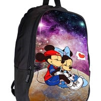 Mickey And Minnie Mouse Star In Galaxy Nebula e682cb50-34d8-4427-95e3-a93ab34f943a for Backpack / Custom Bag / School Bag / Children Bag / Custom School Bag *02*