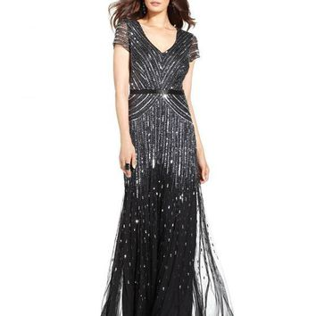 Adrianna Papell Mother of Bride Long Dress Formal Gown