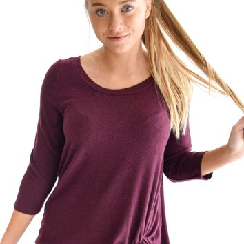 Tied The Knot Burgundy Sweater