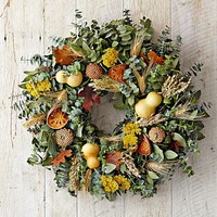 Gourd & Quince Wreath