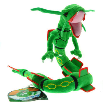 83cm Pokemon Center XY Plush Toy Green Rayquaza Dragon Plush Toys Doll Soft Stuffed Animals Toys Brinquedos Gift for Children