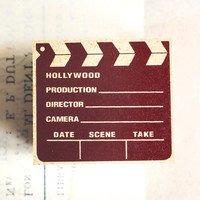 CINEMA rubber stamp by tokyo antique