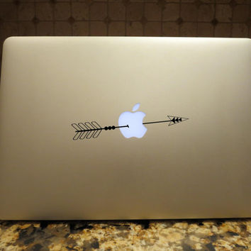 Arrow Apple Decal Custom Vinyl Computer Mac Laptop Car auto vehicle window decal custom sticker Boho Decal Bohemian Arrow decal
