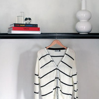 Pol Black & White Knit Cardigan (Small/Indie Brands)