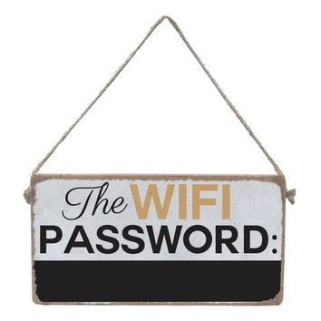Wifi Password Chalkboard - Mini Plank - 11-in