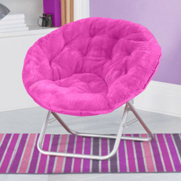 Walmart: Mainstays Faux-Fur Saucer Chair, Multiple Colors