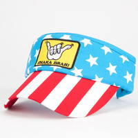Catch Surf Stars And Stripes Shaka Visor Red/White/Blue One Size For Men 25504694801