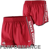 Nike Ohio State Buckeyes Chainmaille Pacer Performance Shorts - Scarlet