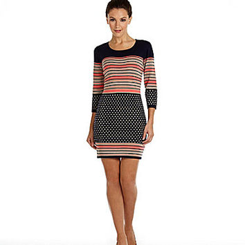 THML Clothing Dot & Stripe Sweater Dress | Dillards.com