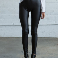 Faux Leatherette Leggings