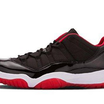 Jordan Men's Air 11 Retro Low Black/True Red/White Leather Athletic Shoes  Jordan 11