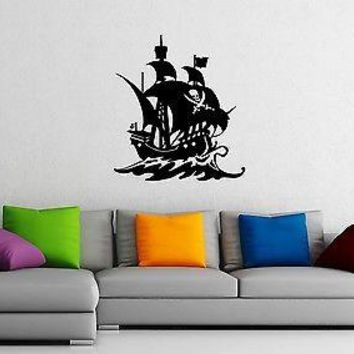 Wall Sticker Vinyl Decal Nursery Pirates Ship Ocean Marine for Kids Unique Gift (ig1191)