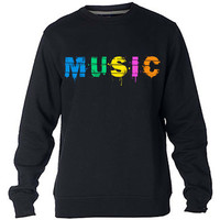 Music Sweatshirt Sweater Crewneck Men or Women Unisex Size