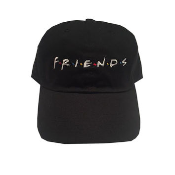 Rock Hard Vintage FRIENDS Dad Hat In Black