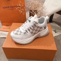 LV Louis Vuitton Men popular Boots popularable Casual leather Breathable Sneakers Running Shoes