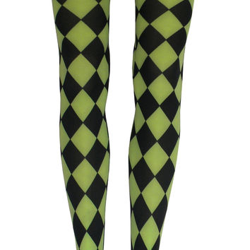 Jester Tights in Lime