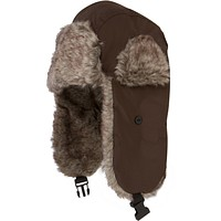 Sakkas Unisex Weatherproof Nylon Faux Fur Lined Winter Earflap Trooper Aviator Hat