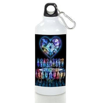 Gift Sport Bottles | Kingdom Hearts Stained Glass Aluminum Sport Bottles