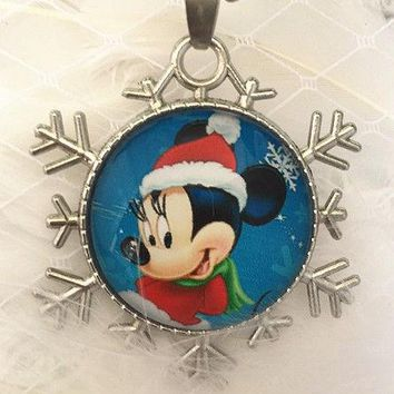 Disney Mickey Mouse Snowflake Necklace