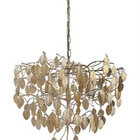 Metal Leaves Chandelier