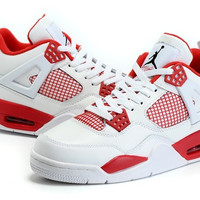 Men's Nike Air Jordan 4 Flight Retro 89 Alternate White Red