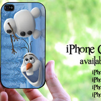 Olaf Disney Frozen design hard case for iPhone 4 case, iPhone 4s case, iPhone 5 case, iPhone 5s case, iPhone 5C case