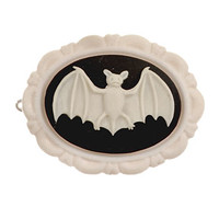 Creature of the Night Bat Barrette in Ivory
