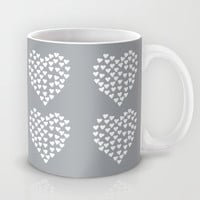 Hearts Heart x2 Grey Mug by Project M