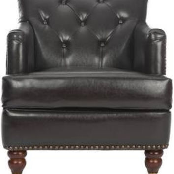 Colin Tufted Leather Club Chair