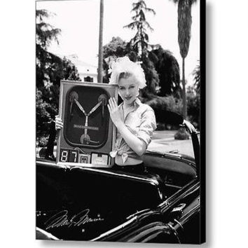 Framed Marilyn Monroe holding Flux Capacitor Back To The Future faux autograph