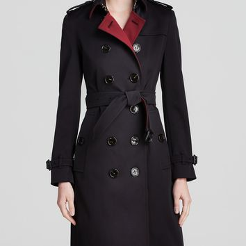 Burberry London Coat - Heynsford Contrast Lapel Trench