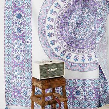 Plum & Bow Devi Medallion Tapestry- Purple Multi One